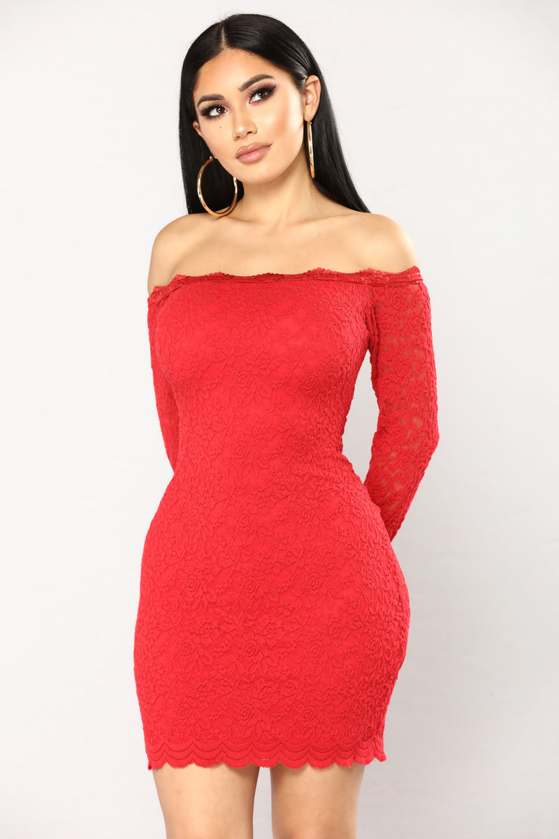 New look inspire lace belted dress