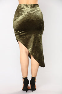 Just A Crush Skirt - Olive Angle 5