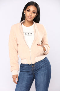 Aubrey Collarless Jacket - Blush