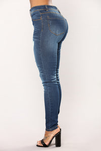 Lift Me Up Booty Sculpting Jeans - Medium Blue Wash