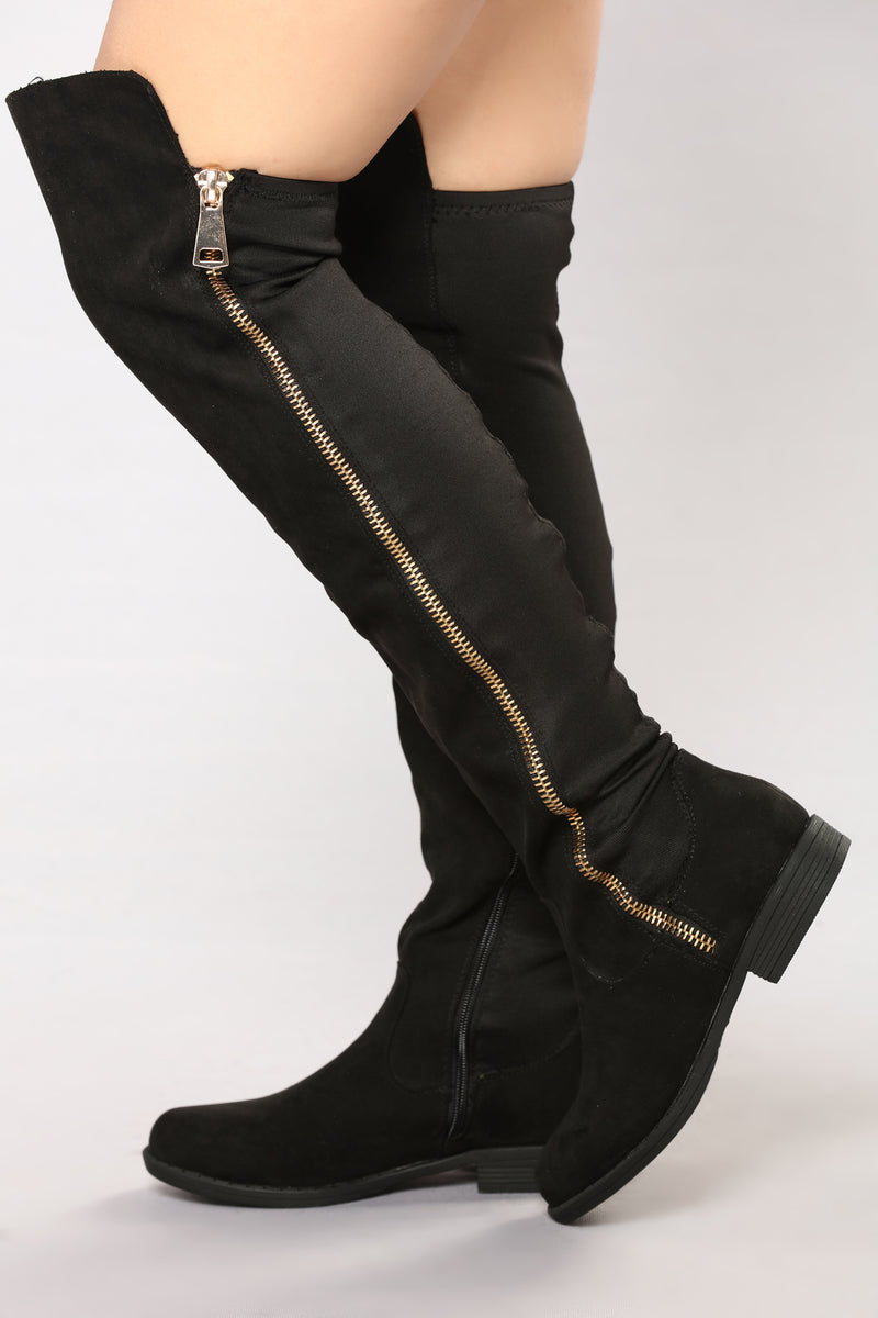 Rosalia Tall Zip Boot - Black