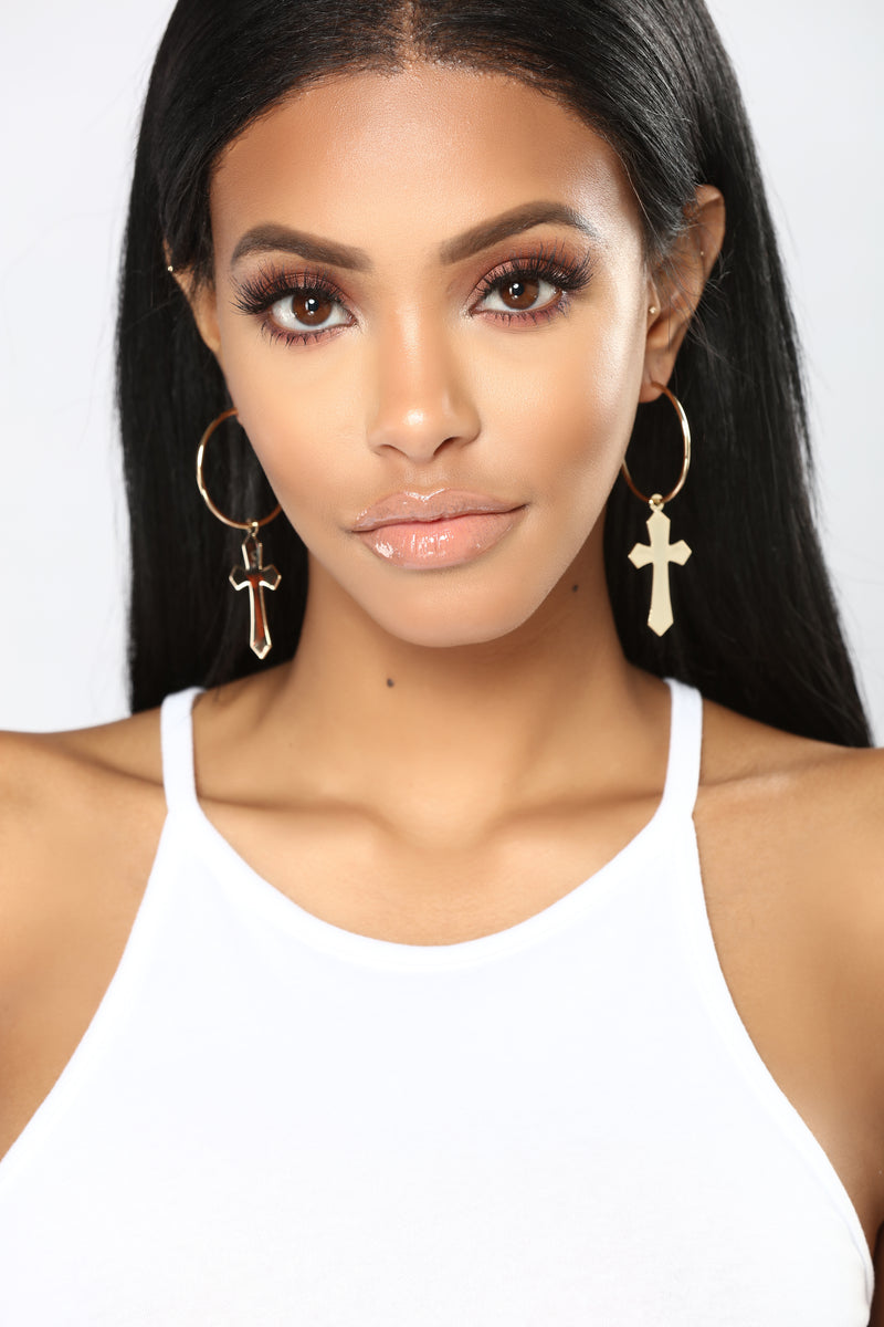 Jazmin Hoop Earrings - Gold