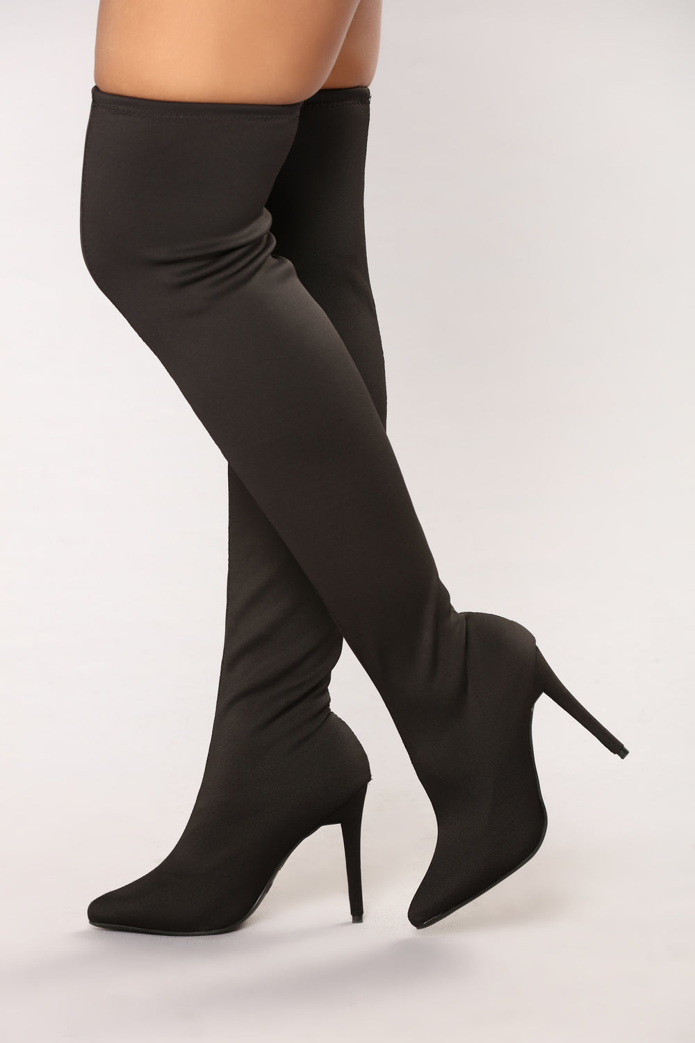 Charice Over The Knee Boot - Black