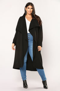 Business Casual Coat - Black Angle 7
