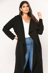 Business Casual Coat - Black Angle 8