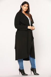 Business Casual Coat - Black Angle 10