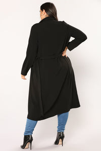 Business Casual Coat - Black Angle 9
