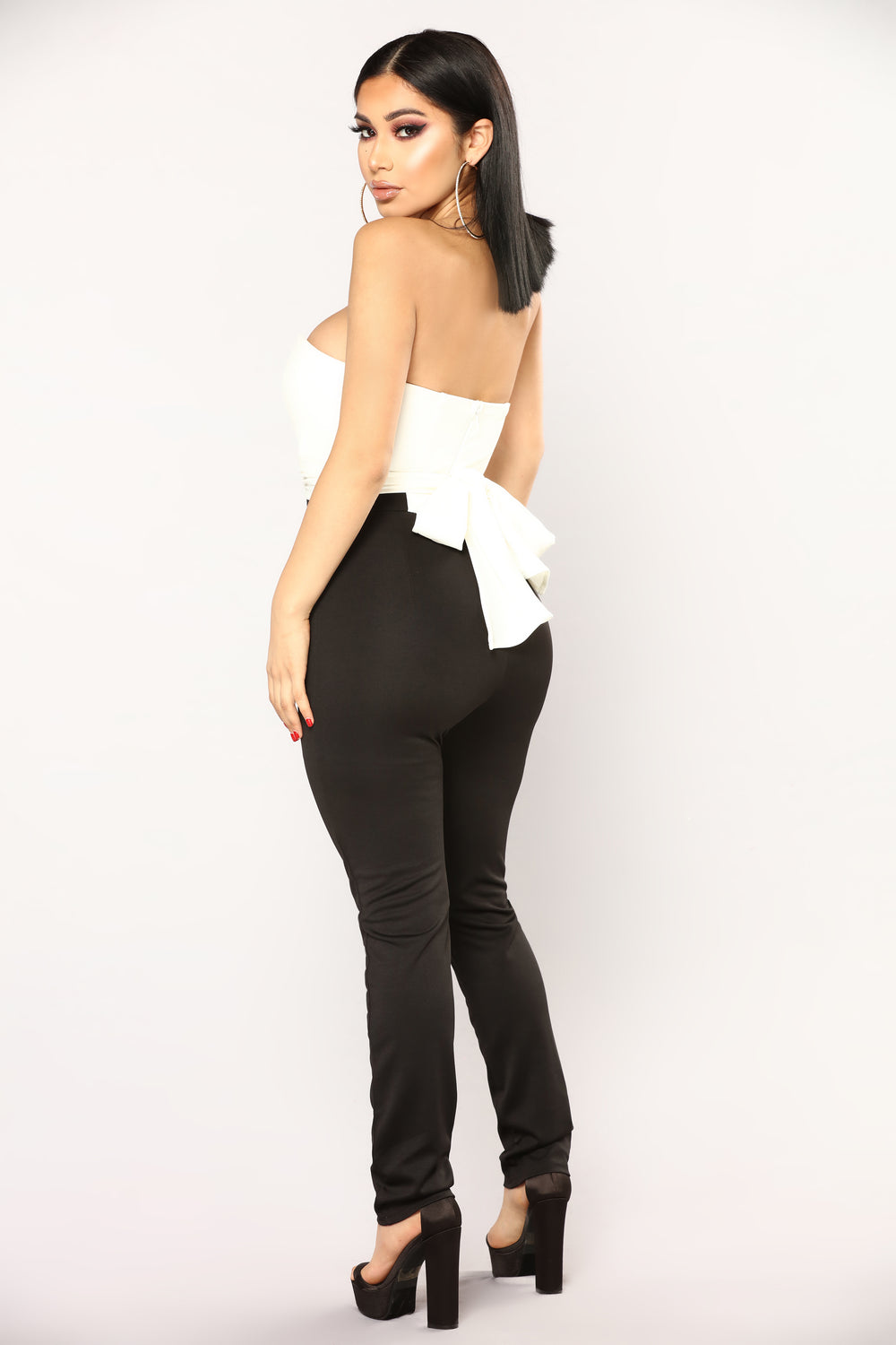 From Afar Jumpsuit - White/Black