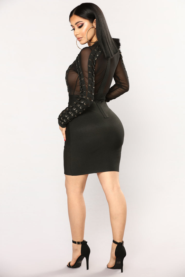 Yvonne Bandage Dress - Black