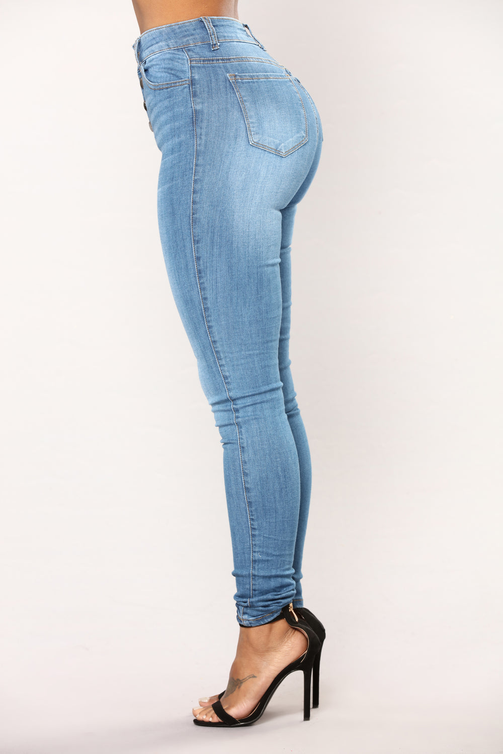 Lover Lay Low Skinny Jeans - Medium Blue Wash