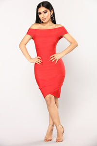 Karyssa Bandage Dress - Red