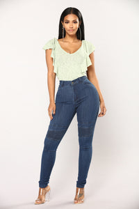 Everything About It Moto Jeans - Dark Denim