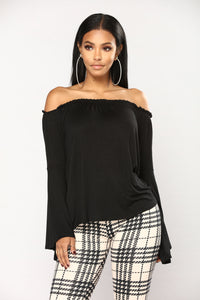 Lilia Off The Shoulder Top - Black