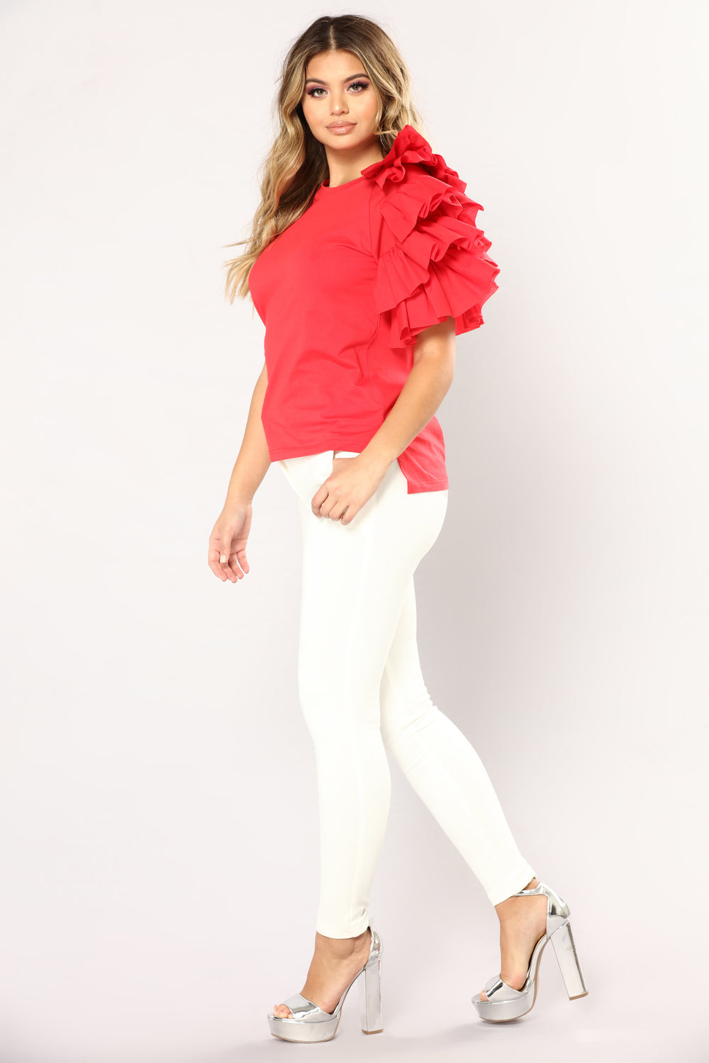 Myrna Knit Top - Red