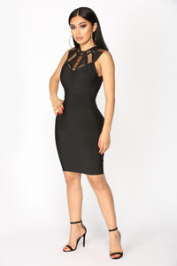 Krista Bandage Dress - Black