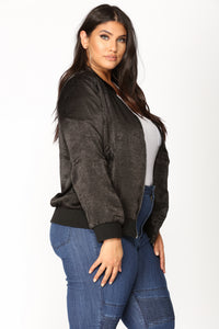 Pretty Fly Bomber Jacket - Black