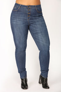 Lover Lay Low Skinny Jeans - Dark Denim