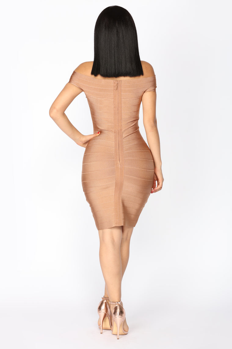 Karyssa Bandage Dress - Copper