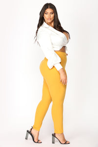 Victoria High Waisted Leggings - Mustard
