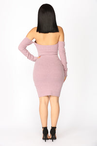 Vivien Zipper Dress - Mauve