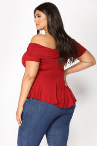 All You Needed Top - Burgundy