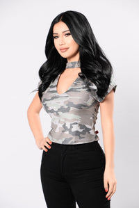 Full Of Trouble Top - Camo