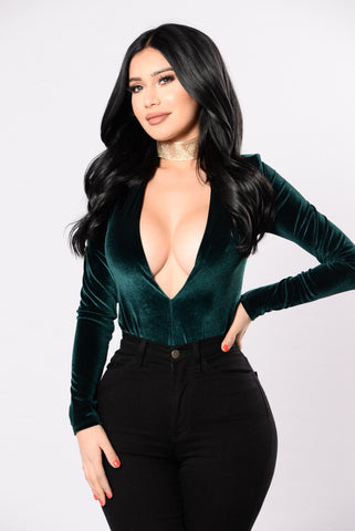 Against All Odds Bodysuit - Hunter Green