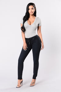 I Love Rock And Roll Jeans - Black