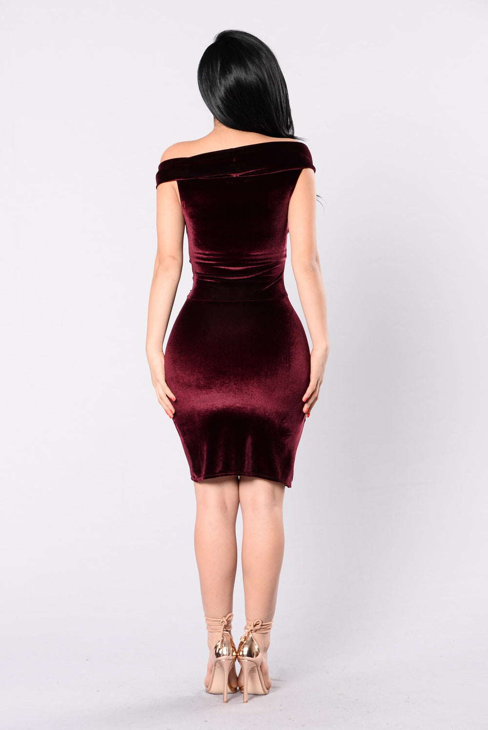 Let's Take Time Dress - Burgundy