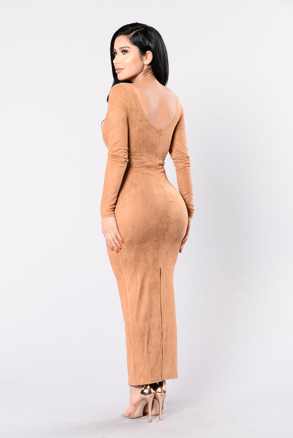 Been Waiting Dress - Camel