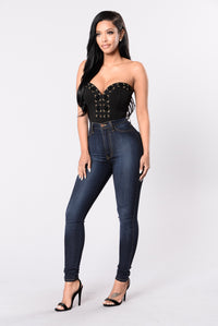 Girl Hi Bodysuit - Black