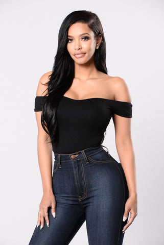 Kickin In Bodysuit - Black