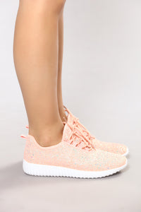 Glitter On The Go Sneaker - Pink