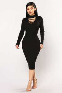 Breanna Knit Dress - Black