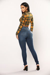 Iolana Skinny Jeans - Dark Denim