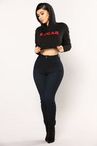Sugar Me Up Hoodie - Black/Red