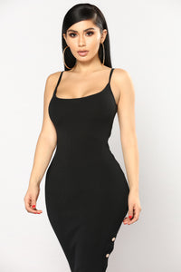 Lindsay Knit Dress - Black