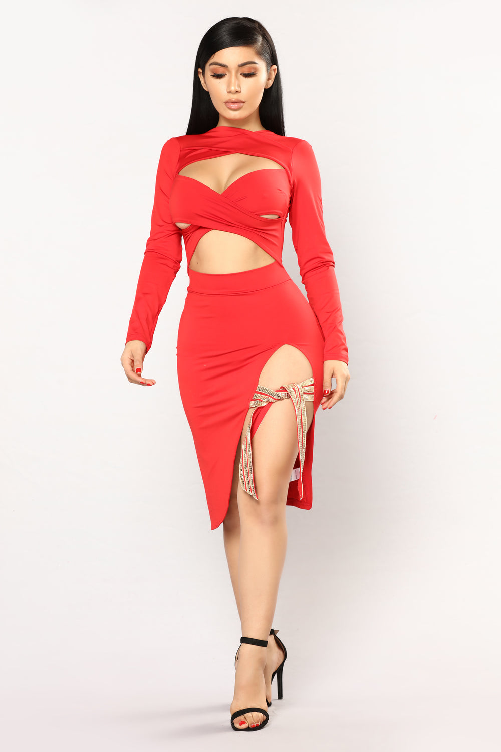 Say It Strappy Dress - Red