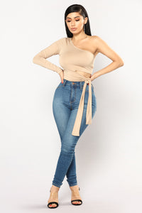 Heart Holder One Shoulder Top - Coco