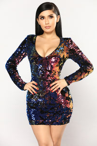 Lovella Sequin Dress - Multi