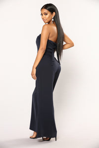 Bristol Off Shoulder Jumpsuit - Navy