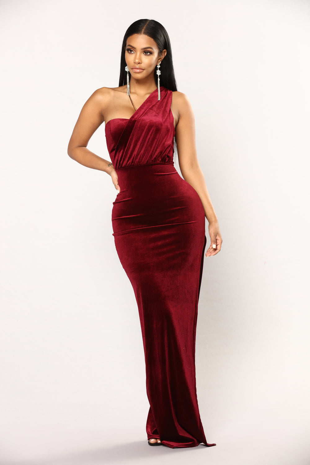 burgundy dress dresses velvet maxi nova arden fashionnova