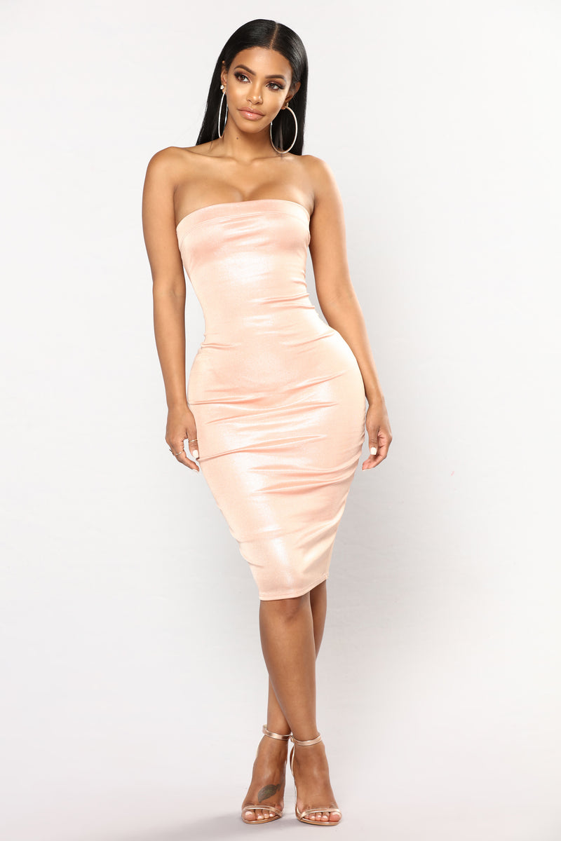 Amani Tube Dress - Mauve