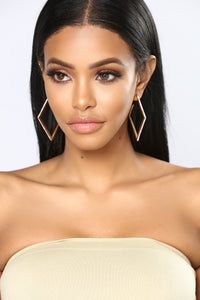Keep On Rockin' Hoop Earrings - Gold