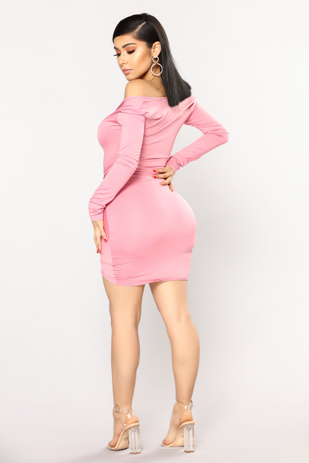 Guangzhou Ruched Dress - Pink