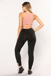 Perla Active Leggings - Black