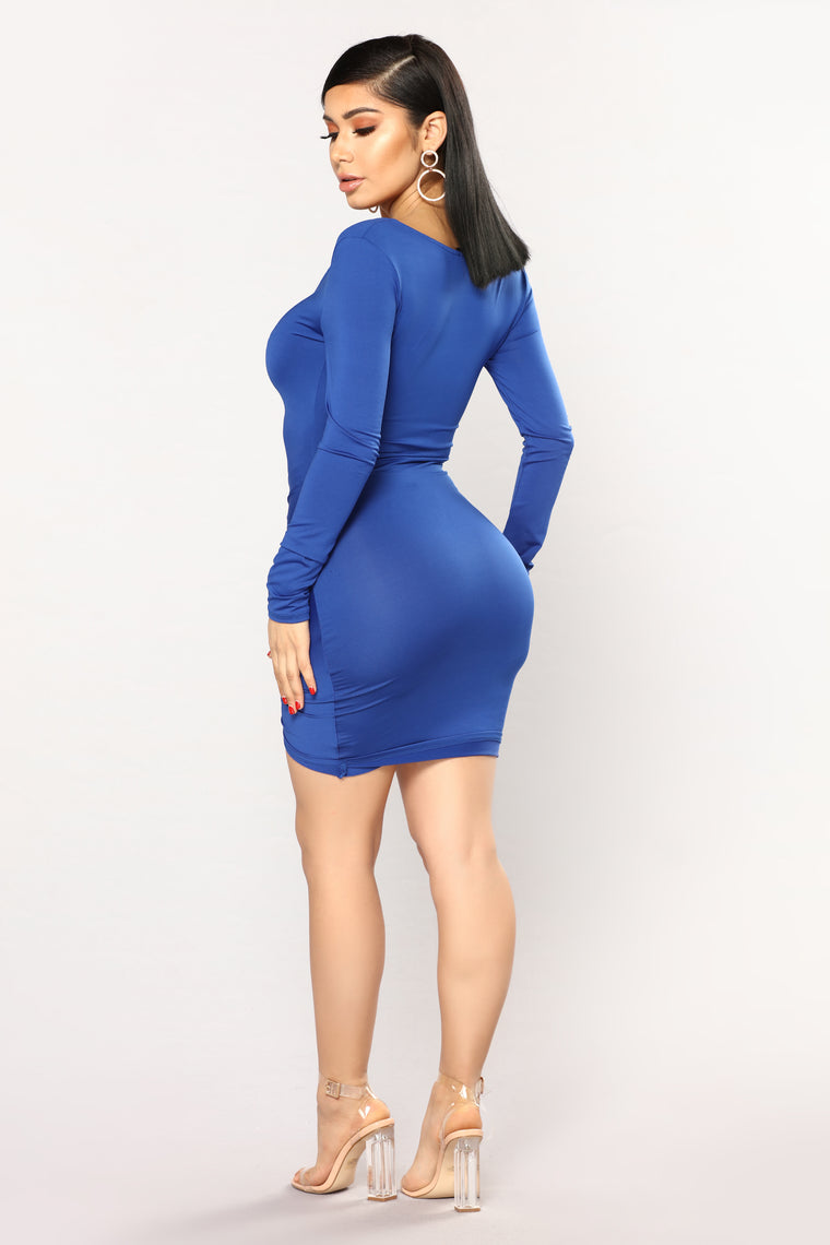 Guangzhou Ruched Dress - Navy