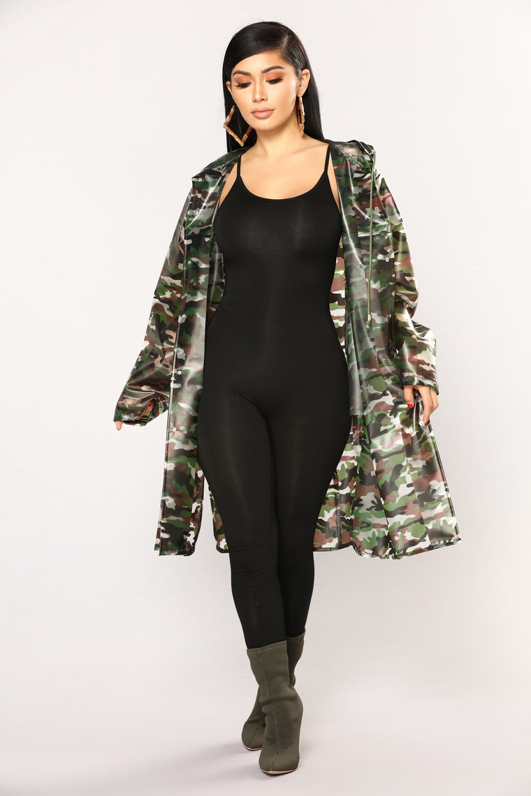 Love And War Camo Raincoat - Camo