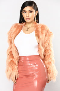 In Touch Faux Fur Jacket - Peach