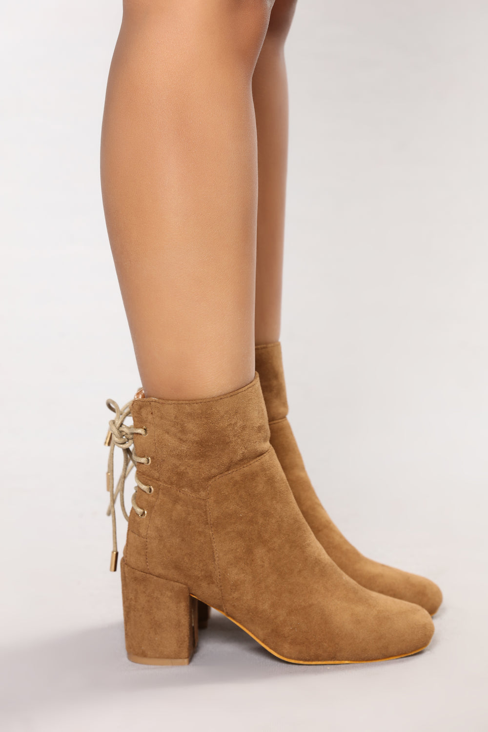 Eddy Lace Back Bootie - Taupe